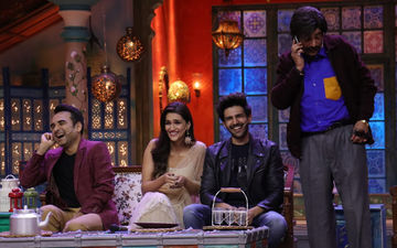 Luka Chuppi Stars Kartik Aaryan, Kriti Sanon Roll In Laughter On Sets Of Kanpur Wale Khuranas