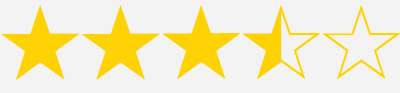 three and half stars
