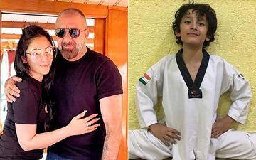 Sanjay Dutt- Manyata Dutt's Son Shahraan Pulls Off A Full-Split, An Extremely Proud Dutt Calls Him 'Karate Kid'