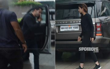 Varun Dhawan-Alia Bhatt Twinning In Black As They Get Papped At Karan Johar's Dharma Office
