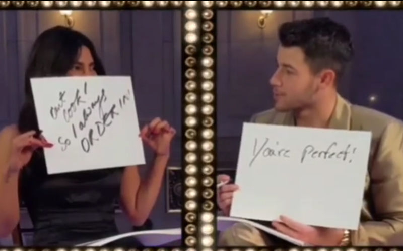 It's Sexy, Priyanka Chopra-Nick Jonas Reveal Hot Secrets In Newlywed Game!