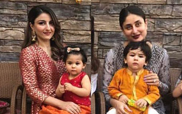 Taimur And Inaaya Sitting On Mommies' Laps At Their Playschool's Diwali Party Is The Best Sight