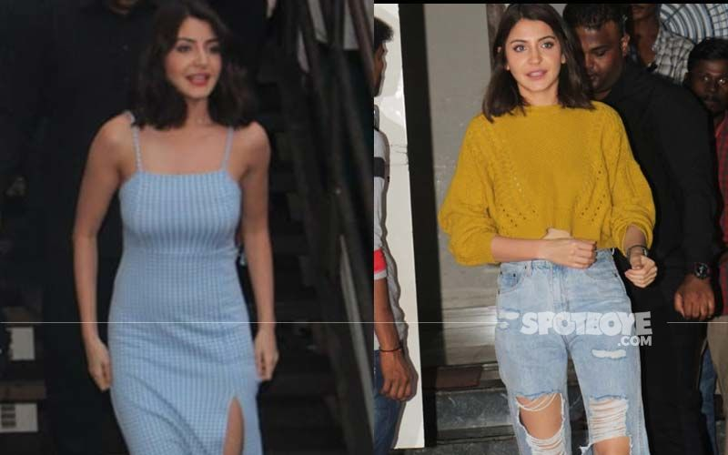 Anushka Sharma Papped In Two Vivid Looks; From A Tight Midi Dress To Ripped Jeans, Actress Pulls It Off Nicely