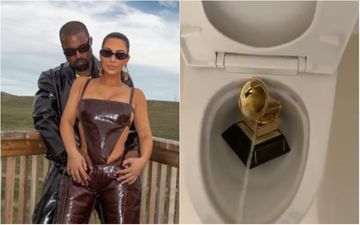 Rapper Kanye West Urinates On His Grammy Award In The Toilet; Fan Says: 'Kim Kardashian Needs To Confiscate Kanye's Phone'