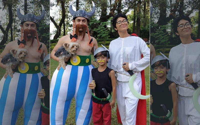 Azad's Asterix Themed Pre-Birthday Party Pictures: Aamir Khan-Kiran Rao Turn Obelix And Getafix