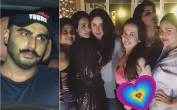 Arjun Kapoor's Panipat Look Revealed As He Parties With Girlfriend Malaika Arora And Kareena Kapoor Khan - View Pictures