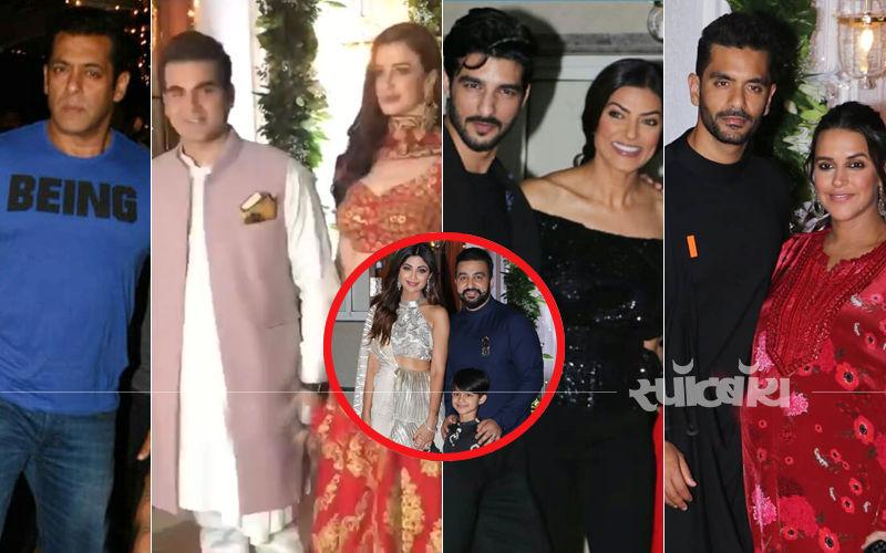 शिल्पा शेट्टी की दिवाली पार्टी में पहुंचे, सलमान खान, अरबाज़-जॉर्जिया, सुष्मिता सेन और कई बॉलीवुड स्टार्स