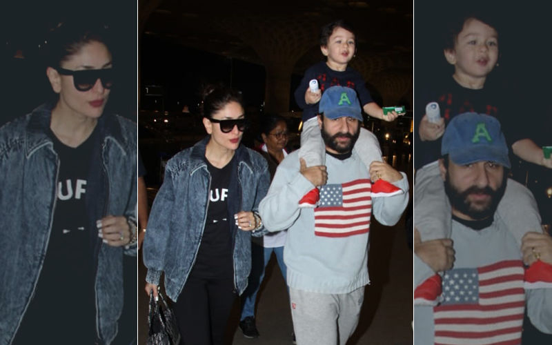 And Taimur's Birthday Vacay Begins With Saif Ali Khan, Kareena Kapoor Khan