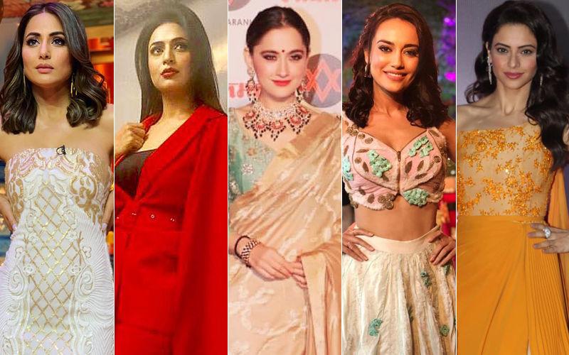 BEST DRESSED & WORST DRESSED Of The Week: Hina Khan, Divyanka Tripathi, Sanjeeda Shaikh, Surbhi Jyoti Or Aamna Sharif?