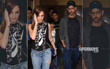 Hrithik Roshan And Sussanne Khan Enjoy A Movie Night With Kids