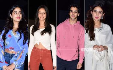 Kedarnath Screening: Janhvi Kapoor, Ananya Panday, Ishaan Khatter And Sara Ali Khan Attend