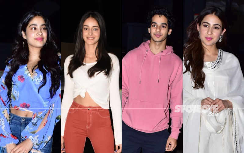 Kedarnath Screening: Janhvi Kapoor, Ananya Panday, Ishaan Khatter And Sara Ali Khan Attend