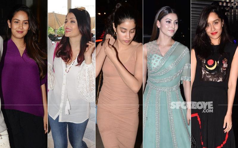 STUNNER OR BUMMER: Mira Rajput, Aishwarya Rai Bachchan, Janhvi Kapoor, Urvashi Rautela Or Shraddha Kapoor?