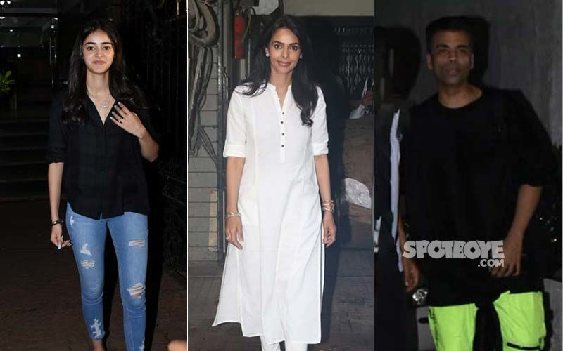 Celeb Spotting: Ananya Panday, Mallika Sherawat, Karan Johar Step Out In Style