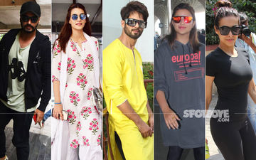 Celeb Spotting: From Janhvi's Denim Shorts To Shahid's Yellow Kurta, Here's Who Wore What
