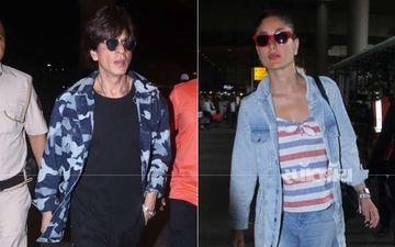 एयरपोर्ट पर कैजुअल लुक में दिखे शाहरुख़ खान और करीना कपूर: देखिए तस्वीरें