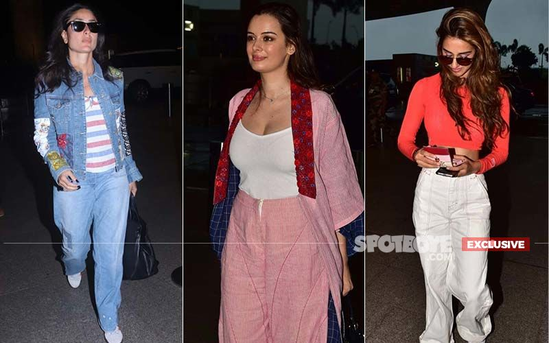 Kareena Kapoor, Evelyn Sharma, And Disha Patani Spotted At The Airport – Which Diva's Look Impressed You The Most?