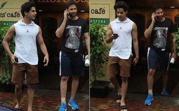 MC Sher Siddhant Chaturvedi And Ishaan Khatter Are Defining Friendship Goals; Head Out Of A Cafe In Bandra