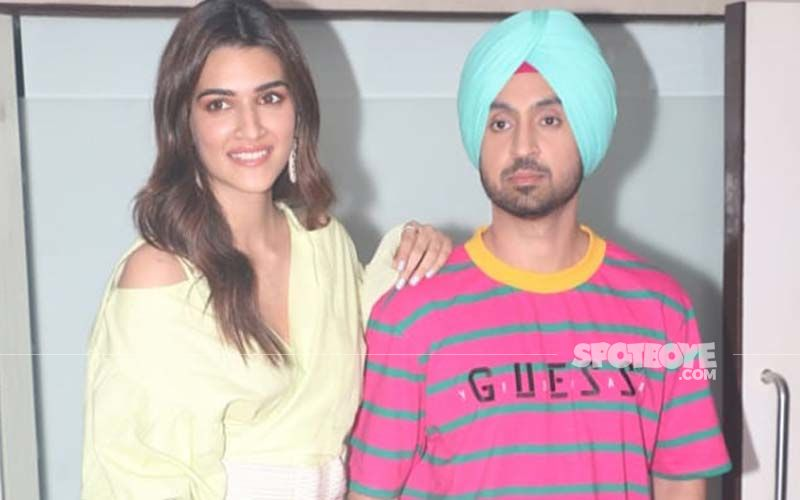 Kriti Sanon and Diljit Dosanjh sport a million-dollar smile as they promote 'Arjun Patiala'