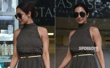 Malaika Arora Looks Stunning As She Steps Out In A Retro Polka Dot Dress