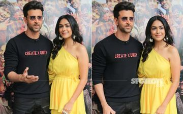 Super 30 Stars Hrithik Roshan And Mrunal Thakur Look Glamorous As They Promote Their Upcoming Film