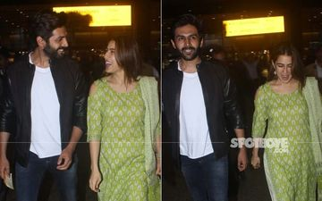 Sara Ali Khan- Kartik Aryan Snapped In Their Candid Best As They Are Back To The Bay