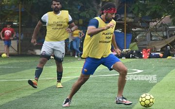 Ranbir Kapoor Brings His A-Game On To The Football Field- View Pics