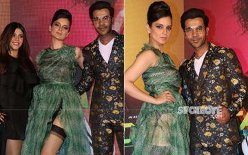 Judgementall Hai Kya, Wakhra Swag Song Launch: Kangana Ranaut-Rajkummar Rao Turn Up In Colorful Attires