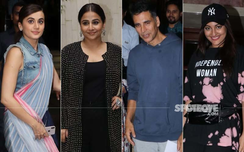 Mission Mangal Stars Akshay Kumar, Vidya Balan, Sonakshi Sinha And Taapsee Pannu Head Out In Style As The New Trailer Drops In