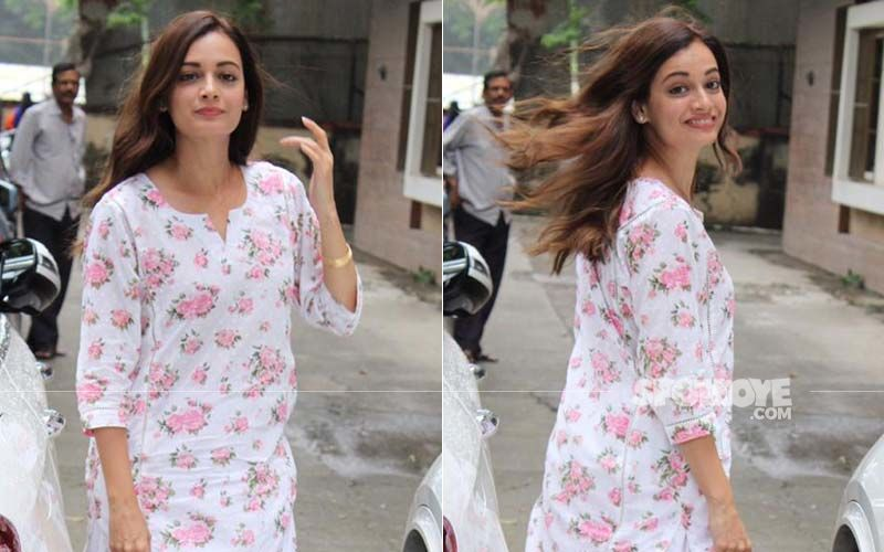 Dia Mirza Is A Breath Of Fresh Air As She Steps Out On A Rainy Day