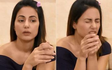 Hina Khan Sneezes Just As She's Ready To Roll; Reassures Fans It's Ghar Ki Safai Ke Side Effects: 'I'm Absolutely OK, Stop Assuming'