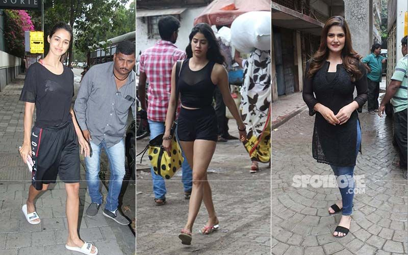 Celeb Spotting: Black Is The Colour Of The Day For Disha Patani, Janhvi Kapoor, Zareen Khan