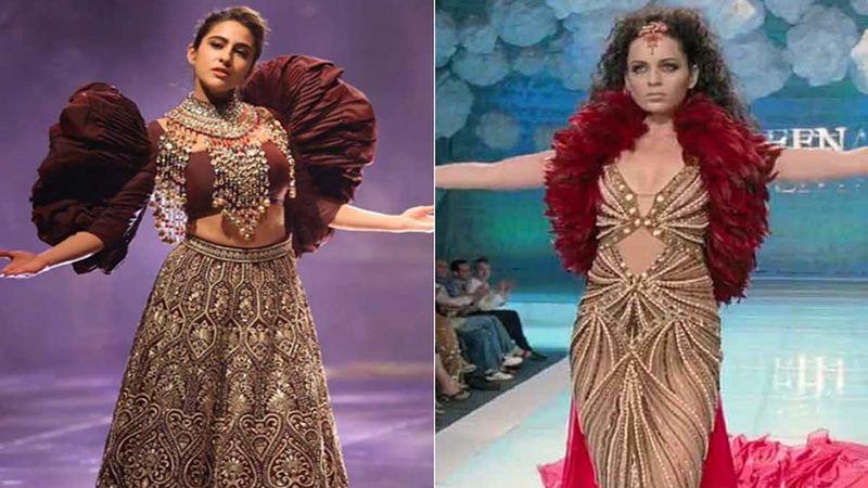 Sara Ali Khan's Latest Ramp Walk Reminds Us Of Kangana Ranaut From Fashion; Who Werked It Better?