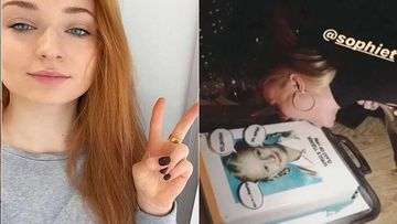Amidst Pregnancy Rumors, Sophie Turner Chomps Off A Big Bite From Her 24th Birthday Cake-Watch