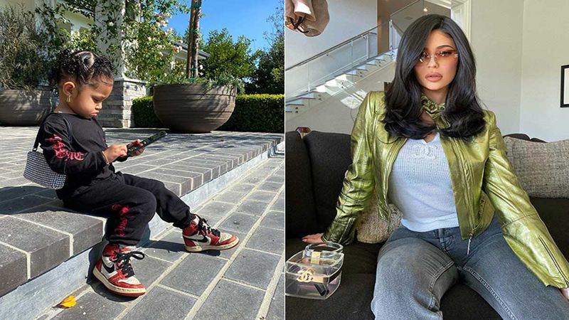 Kylie Jenner's Daughter Stormi Webster Is A Busy Girl; Her Phone And Alexander Wang Clutch Say So