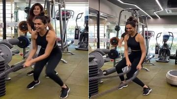 Deepika Padukone Nails Her Crossfit Session Like A Pro; Does The Lungi Dance During Workout-WATCH