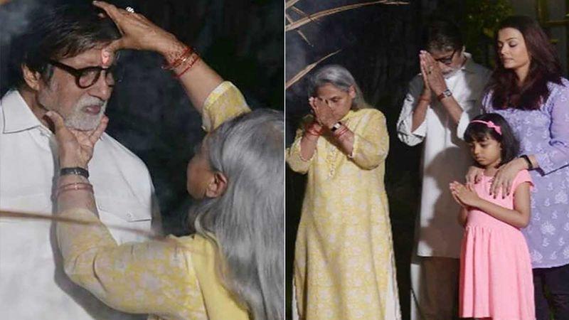 Holi 2020: Jaya Bachchan, Amitabh Bachchan Pray To Ward Off Evil Along With Aishwarya Rai Bachchan And Aaradhya