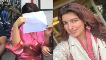 Twinkle Khanna Hides Her Face With Paper In Front Of The Paparazzi; Fans Wonder Why?- VIDEO