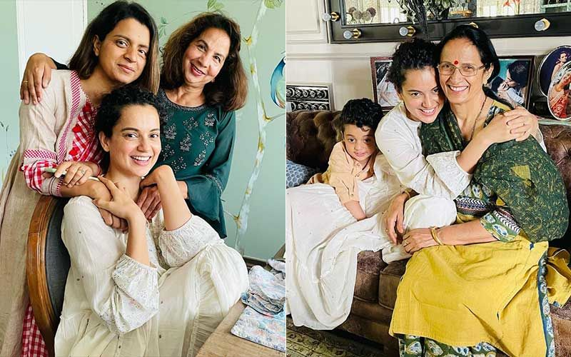 Kangana Ranaut Shares Love-Soaked Pics After Meeting Friends And Relatives Post COVID-19 Recovery; Reveals She Is Going To Meet Her Grandma Tomorrow