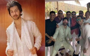Groom-To-Be Varun Dhawan Looks Happiest In THIS INSIDE PIC From Mehendi Ceremony; Poses For An All-Boys Photo With Manish Malhotra, Kunal Kohli And Others