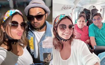 Hina Khan Jets Off For A Beach Holiday To The Maldives; Shares Beautiful Pics Posing With Parents And BF Rocky Jaiswal