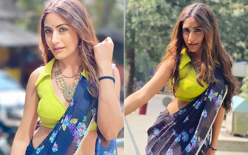 Naagin 5 Fame Surbhi Chandna Looks Alluring In Her Latest Neon Look; Strikes A Beautiful Pose For Pics