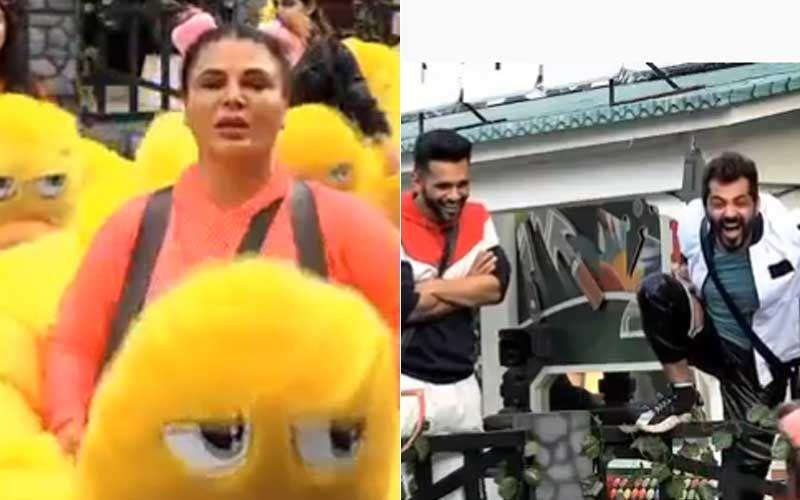 Bigg Boss 14 Promo: Rakhi Sawant Entertains During Duck Task, Says 'Pao Kilo Dimaag Do Na Bigg Boss'; Rahul Vaidya, Manu Panjabi, Aly Goni In Splits-WATCH