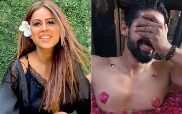 Nia Sharma Gives Sneak-Peek Of Ravi Dubey In A Bathtub; Latter Can't Stop Blushing As His Nipples Are Covered With Rose Petals
