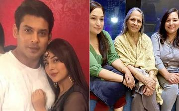Bigg Boss 13's Sidharth Shukla And Shehnaaz Gill's Moms Pose For A Family Pic; The Lovely Ladies Flash Million-Dollar Smiles