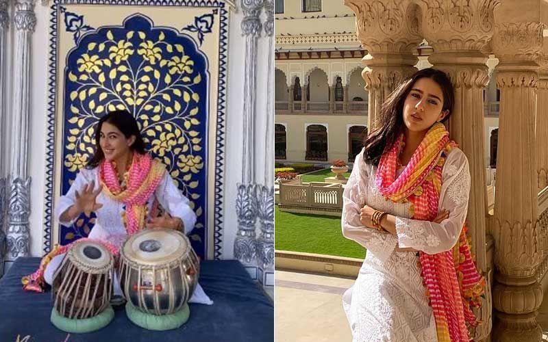 Sara Ali Khan Enjoys Playing The Tabla While In Jaipur; Gives Sneak-Peek Of Her Fun-Filled Royal Trip