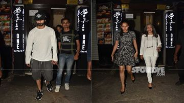 Shahid Kapoor And Mira Rajput Get Snapped In Mumbai Last Night For A Family Dinner Outing