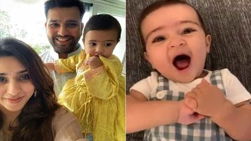 Happy Children's Day 2019: Rohit Sharma Wishes His 'Little Dragon'; Shares An Endearing Video Of Daughter Saying 'Baba'