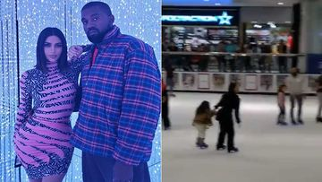 Kim Kardashian Reveals She Has FAITH In Kanye West As He Successfully Catches Her Phone On An Ice Skating Rink
