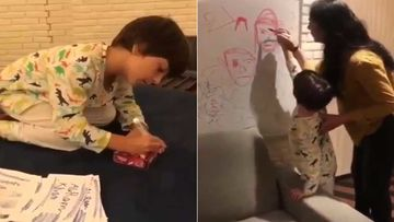 Shah Rukh Khan's Son AbRam Khan's Painting Videos From Mannat Is Adorbs